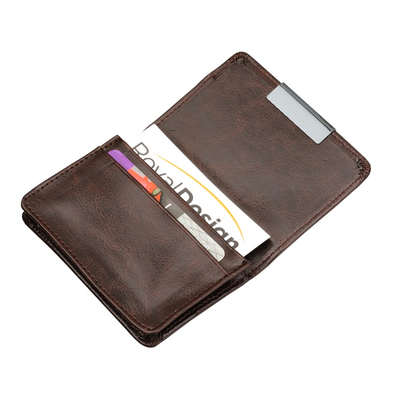 Oxide business card holder, brown photo