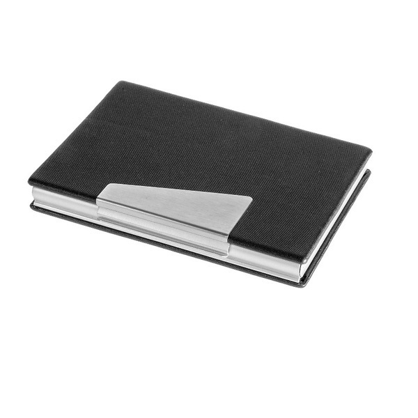 Firm business card holder, black/silver photo